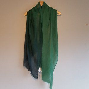 NWT Chico's Long Scarf Wrap Ombre Green
